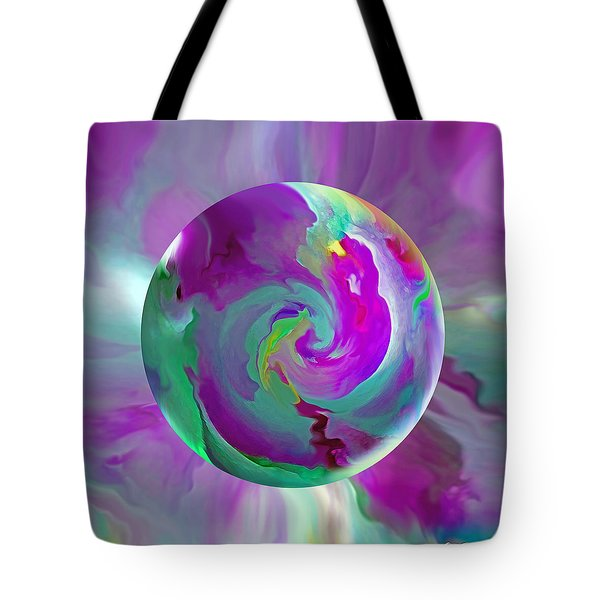 Tote Bag featuring the painting   Perpetual Morning Glory by Robin Moline