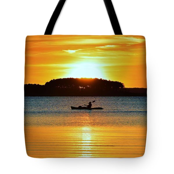 A Reason To Kayak - Summer Sunset Tote Bag