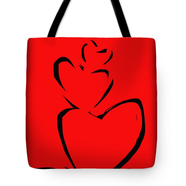 Tote Bag featuring the painting  A Stack Of Hearts by Go Van Kampen