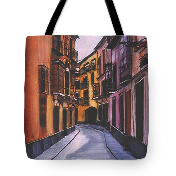 A Street In Seville Spain Tote Bag