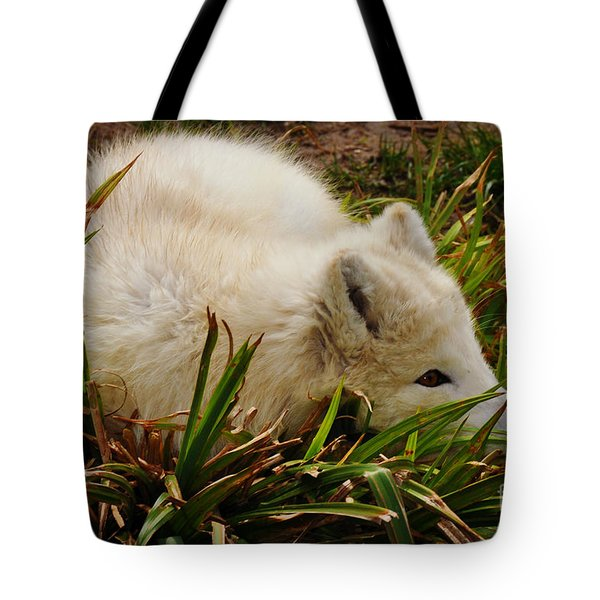 A White Fox Tote Bag