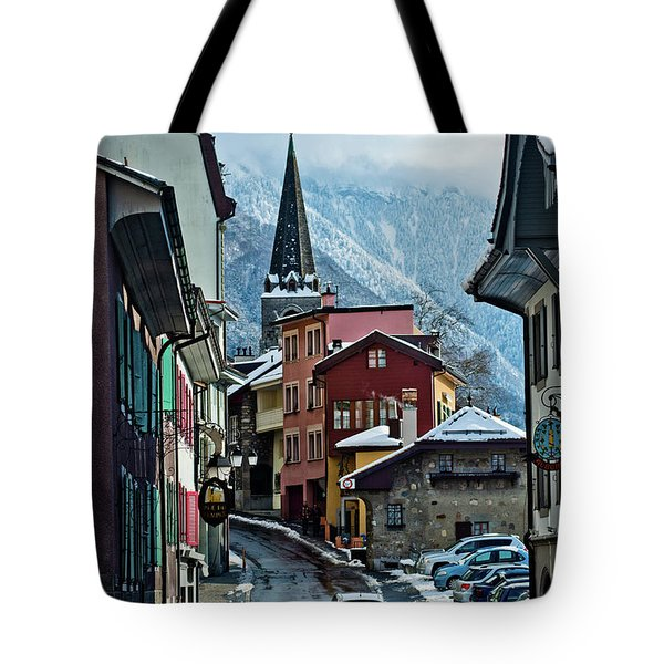 A Winter Day In Montreux, Switzerland Tote Bag