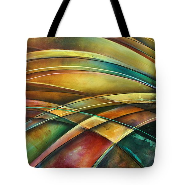 ' Abstract ' L1 Tote Bag by Michael Lang