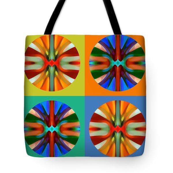 Abstract Circles And Squares 2 Tote Bag by Amy Vangsgard