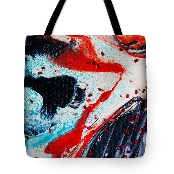 Abstract Original Artwork One Hundred Phoenixes Untitled Number Fifteen Tote Bag