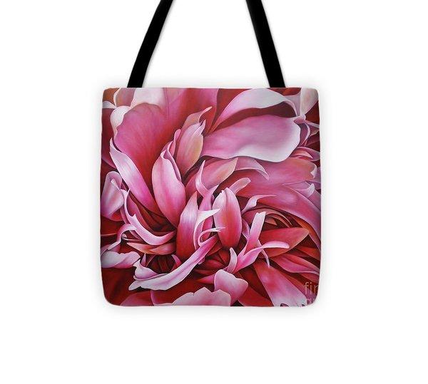 Abstract Peony Tote Bag by Paula L