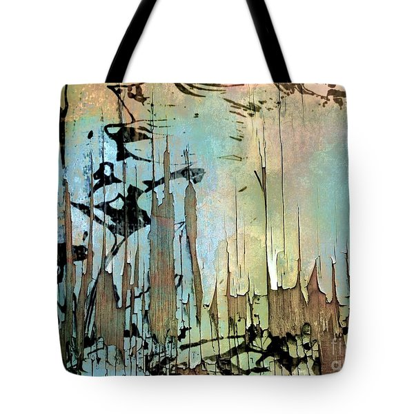 Abstract Woodlands  Tote Bag by Elaine Manley