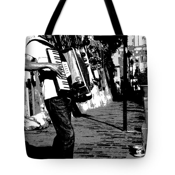 Accordioniste Tote Bag by Jacqueline M Lewis