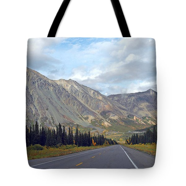 Tote Bag featuring the photograph  Along The Parks Highway  by Dyle   Warren