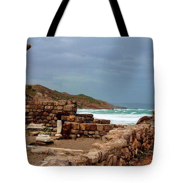 Ancient Ruins In Kefalos Kos Tote Bag