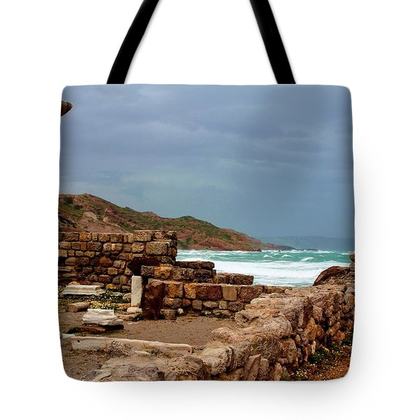 Ancient Ruins In Kefalos Kos Tote Bag