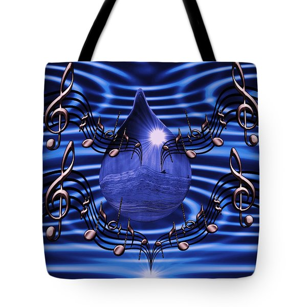 Angelic Sounds On The Waves Tote Bag by Barbara St Jean