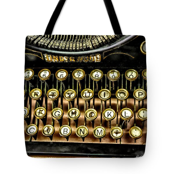 Antique Keyboard Tote Bag by Christopher Holmes