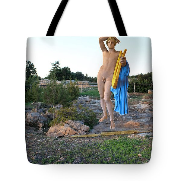 Apollo Circular Sacred Building Tote Bag by Augusta Stylianou
