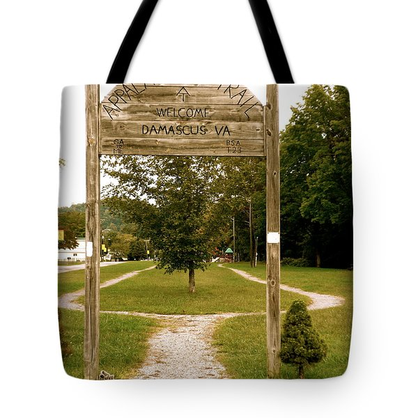 Appalachian Trail At Damascus Tote Bag
