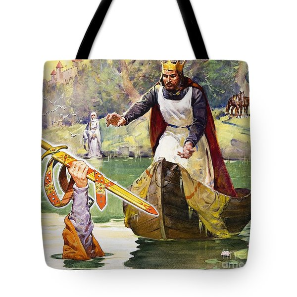 Arthur And Excalibur Tote Bag