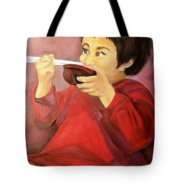 Tote Bag featuring the painting  Asian  Doll by Sharon Duguay