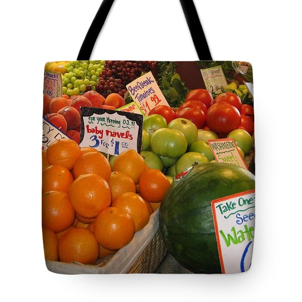 At The Market Stand Tote Bag