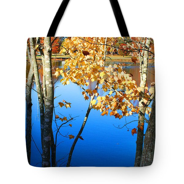 Autumn Trees On The Lake Tote Bag