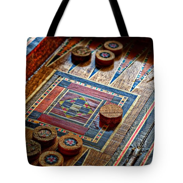 Backgammon Tote Bag