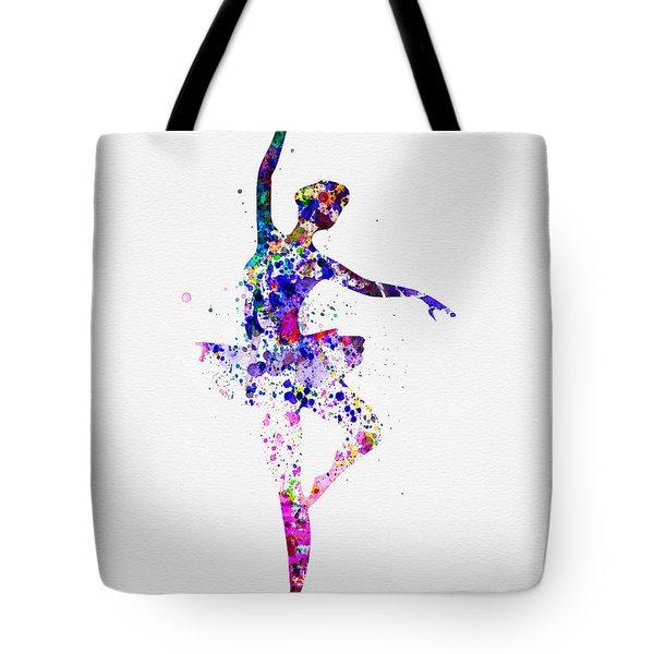 Ballerina Dancing Watercolor 2 Tote Bag by Naxart Studio