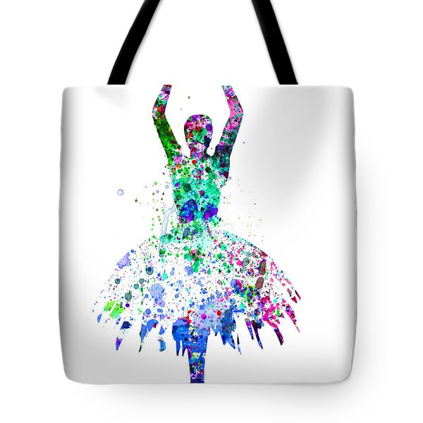 Ballerina Dancing Watercolor 4 Tote Bag