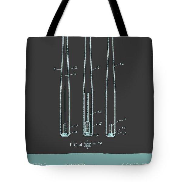 Baseball Bat Patent From 1924 - Gray Blue Tote Bag