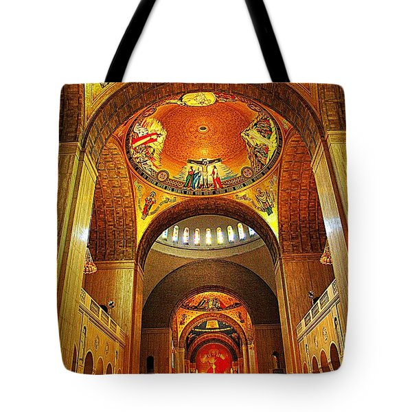 Tote Bag featuring the photograph  Basilica Of The National Shrine Of The Immaculate Conception by John S