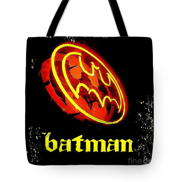 Batman In Halifax Tote Bag by John Malone