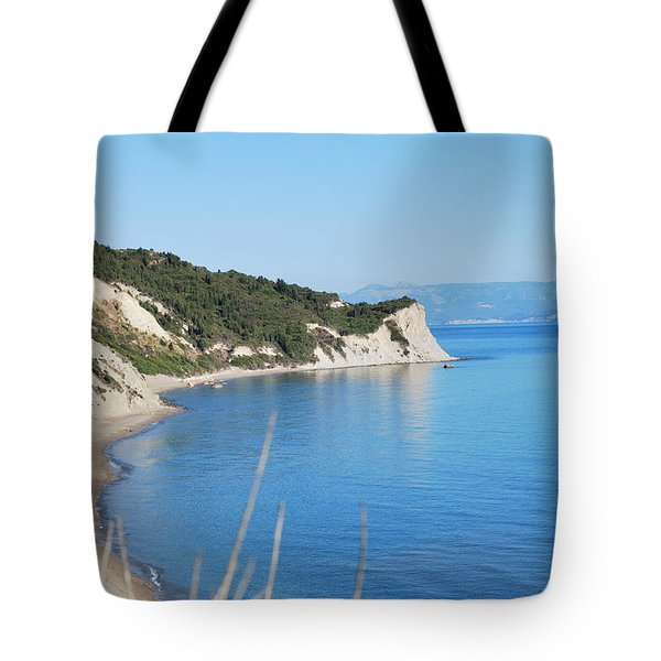 Tote Bag featuring the photograph  Beach by George Katechis