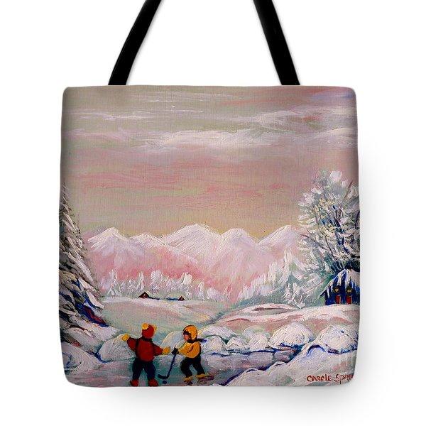 Beautiful Winter Fairytale Tote Bag by Carole Spandau