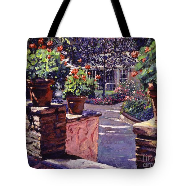 Bel-air Gardens Tote Bag by David Lloyd Glover