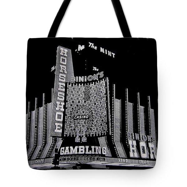 Binion's Horseshoe Casino Exterior Casino Center Las Vegas Nevada 1979-2014 Tote Bag