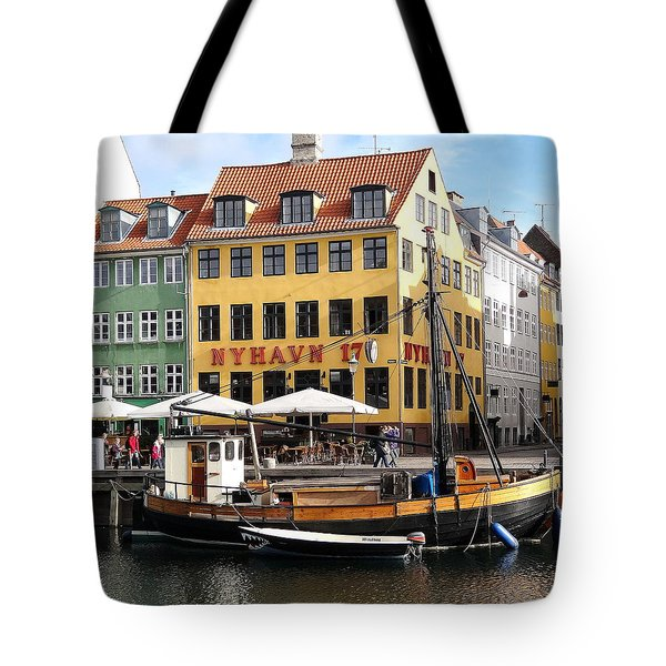 Boat In Nyhavn Tote Bag by Richard Rosenshein