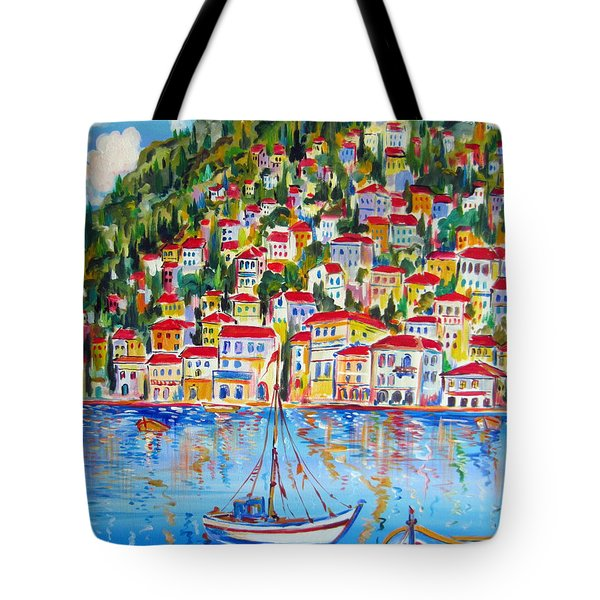 Boats Down South Italy Coast  Tote Bag