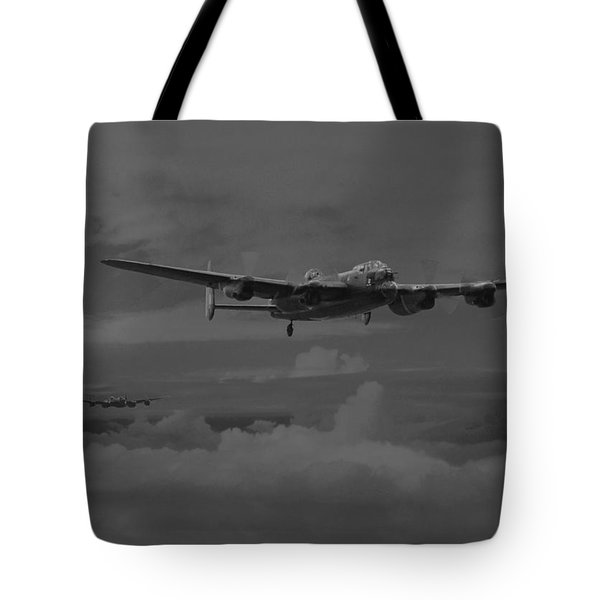 Bomber's Moon Tote Bag by Pat Speirs
