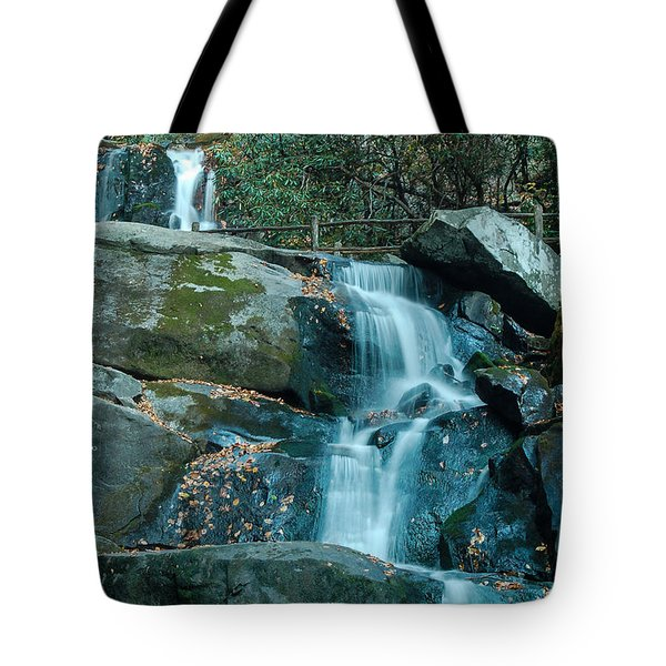 Tote Bag featuring the photograph  Bottom Of Laurel Falls by Patrick Shupert