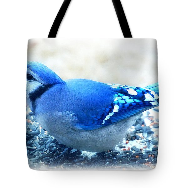 Bright Blue Jay  Tote Bag