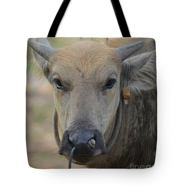 Buffalo Tote Bag by Michelle Meenawong