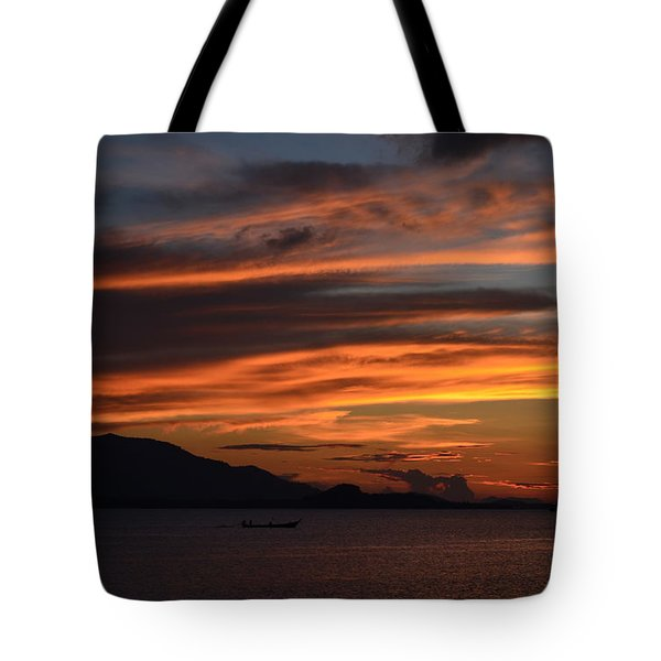 Burning Sky Tote Bag by Michelle Meenawong
