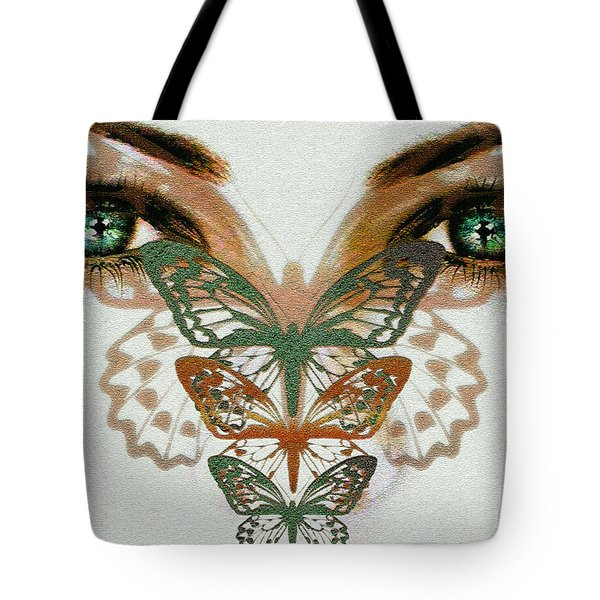 Tote Bag featuring the digital art  Butterfly Effect by Elaine Manley