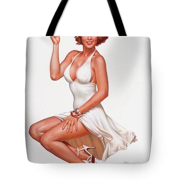 Camel Girl In White Tote Bag