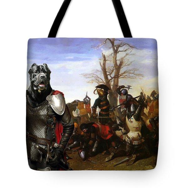 Cane Corso Art Canvas Print - Swords And Bravery Tote Bag