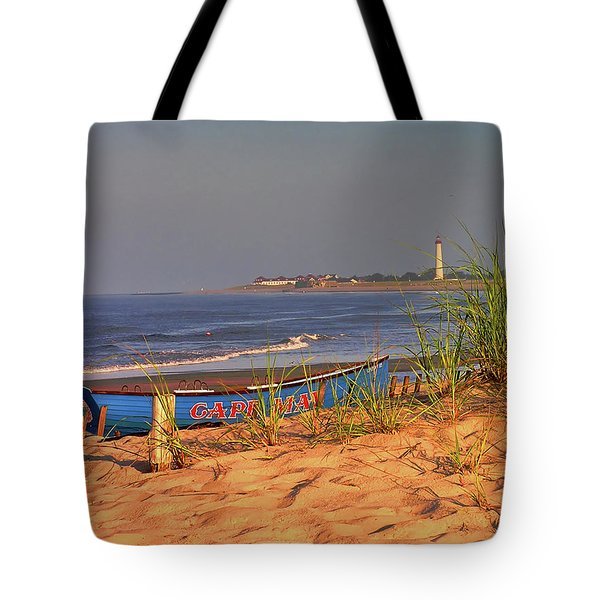 Cape May Beach Tote Bag by Nick Zelinsky