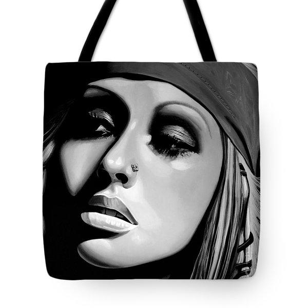 Christina Aguilera Tote Bag