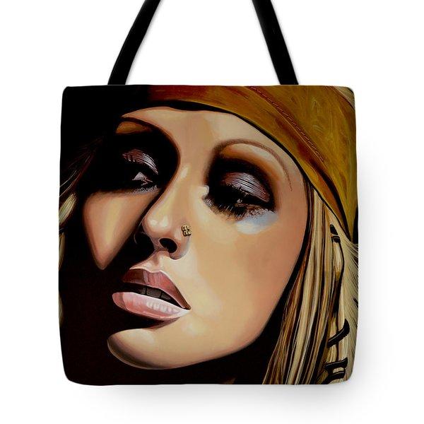 Christina Aguilera Painting Tote Bag