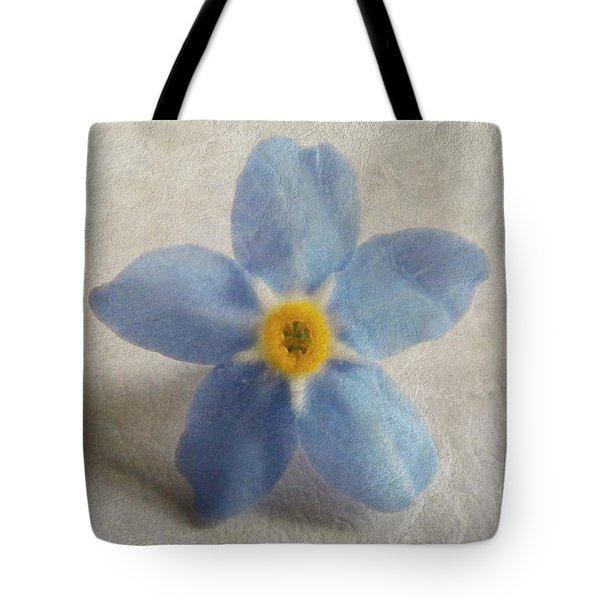 Myosotis 'forget-me-not'- Single Flower Tote Bag