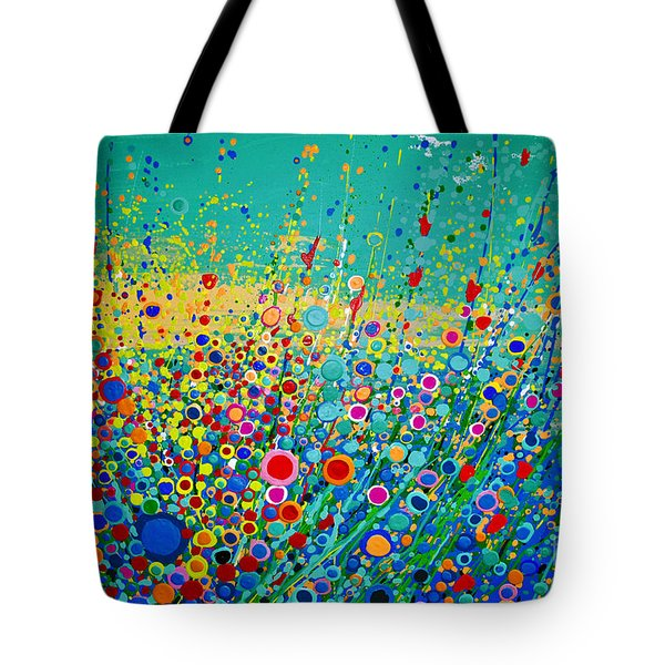 Colorful Flowerscape Tote Bag