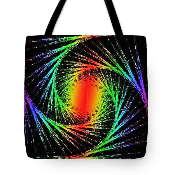 Colorful Fractals Tote Bag by Mikki Cucuzzo