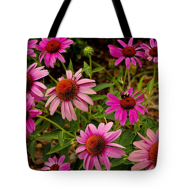 Tote Bag featuring the photograph  Coneflower Gang  by James C Thomas